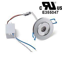 1W LED Down Light Recessed Ceiling Lamp White Bulb AC85V-265V
