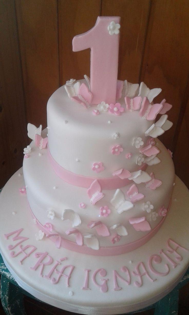 Tortas Imagina - tortas primer año niña - tortas rosada ...