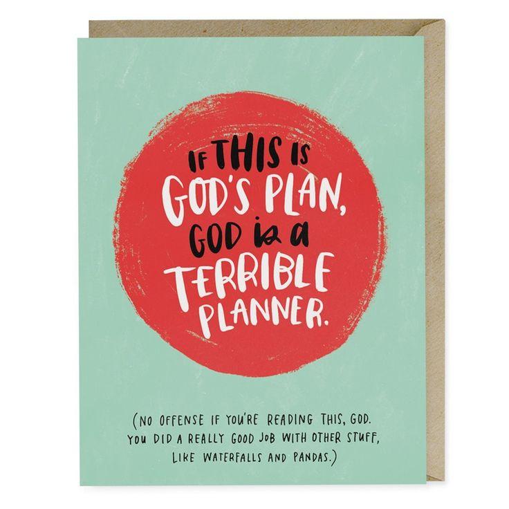 "Sympathy Greeting Card - ""God's Plan"""