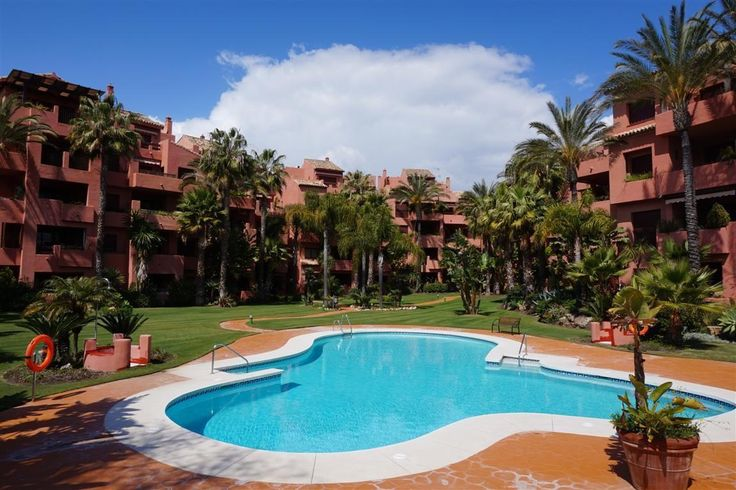 Stand Marbella Real Estate - 3 bedroom Apartment for sale in Los Monteros Playa #Marbella  Fantastic location, a very quiet area just 100 meters from the beach! Enjoying Mediterranean gardens, 24 hour security and cameras, this ground floor apartment is unfurnished with a spacious terrace, garage space and direct access to the beach from the urbanisation. There are two beach restaurants close by which are open all year…