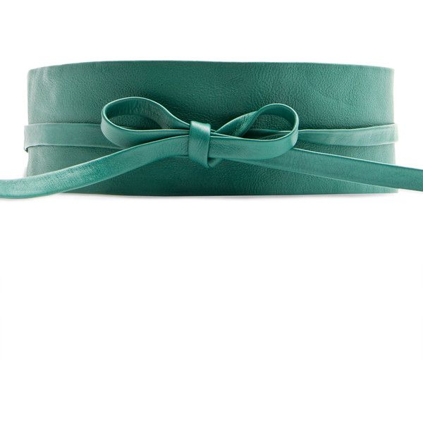 MANGO Leather obi belt (€14) ❤ liked on Polyvore featuring accessories, belts, cinture, cintos, green, leather belts, green belt, green leather belt, 100 leather belt and genuine leather belts
