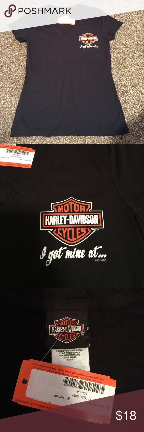 Harley Davidson Ames v-neck Never worn new with tags. Perfect condition. Biker tee Tops Tees - Short Sleeve