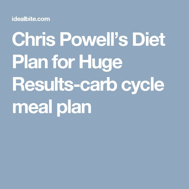 low carb cycling for weight loss