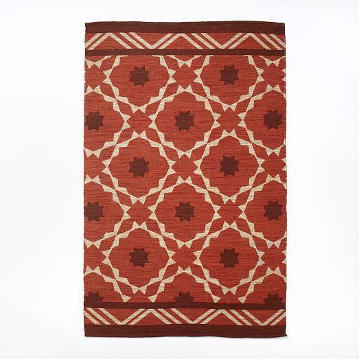 Fiesta Tile Printed Jute Rug | west elm
