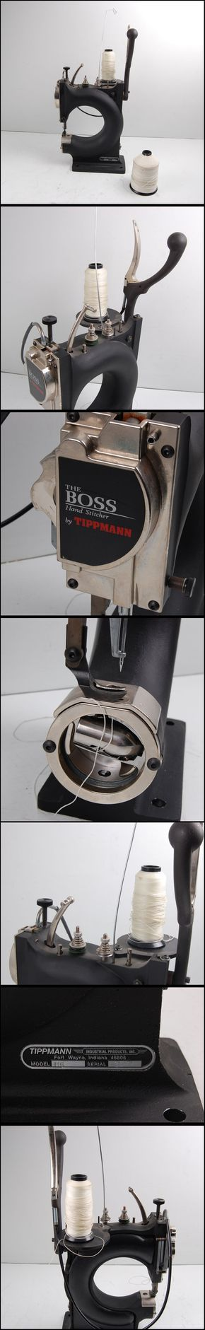 Tippmann Boss Model HS Hand Stitcher Leather Sewing Machine Máquina de coser fabricación en acero bastante robusta y muy bien fabricada
