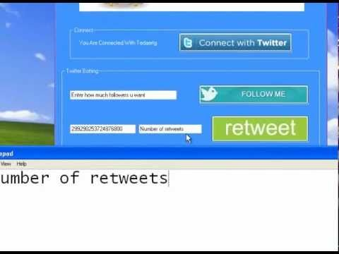 New twitter Followers and Retweets bot 2013