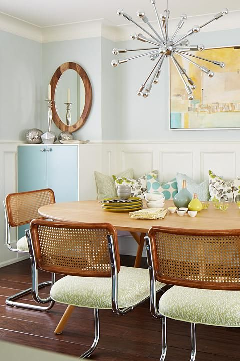 Sarah Richardson Design - Ikea Kitchen Cabinetry - White in stock cabinets & door fronts painted robins egg blue