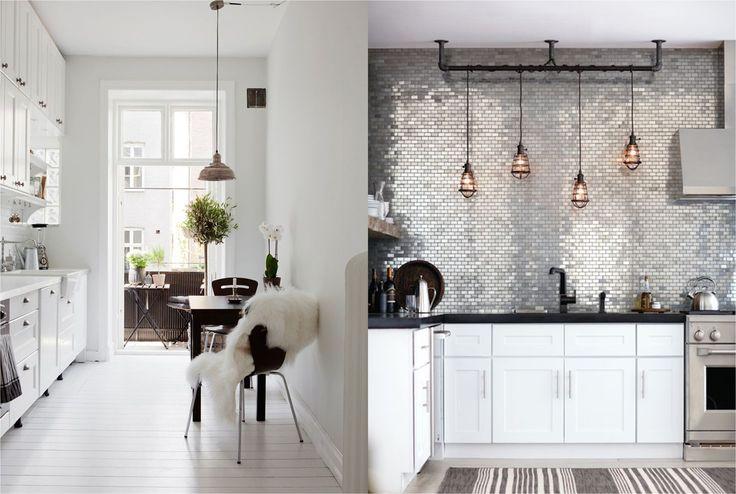 58 beste afbeeldingen over keukens op pinterest open planken interieur bakstenen muren en doe - Deco witte keuken ...
