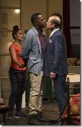 """Elena Marisa Flores, Vincent Meredith and Tim Hopper star in Steppenwolf Theatre's """"Between Riverside and Crazy"""" by Stephen Adly Guirgis, directed by Yasen Peyankov. (photo credit: Michael Brosilow)"""