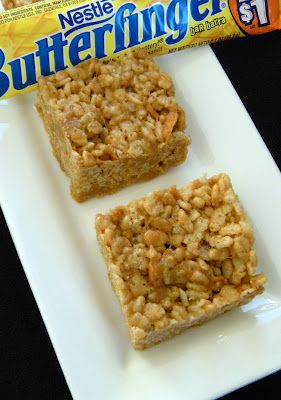 365 Days of Baking and More: Butterfinger Rice Krispie Treats: Cookies ...