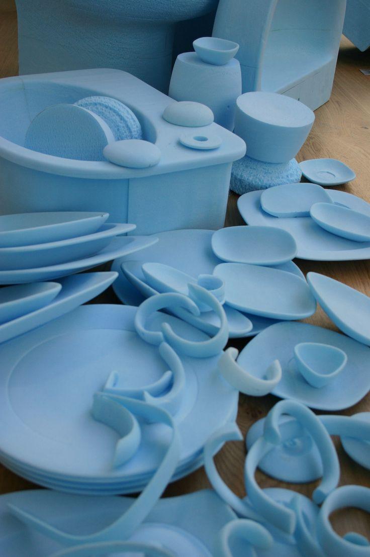 Studio Levein Blue Foam Models Set