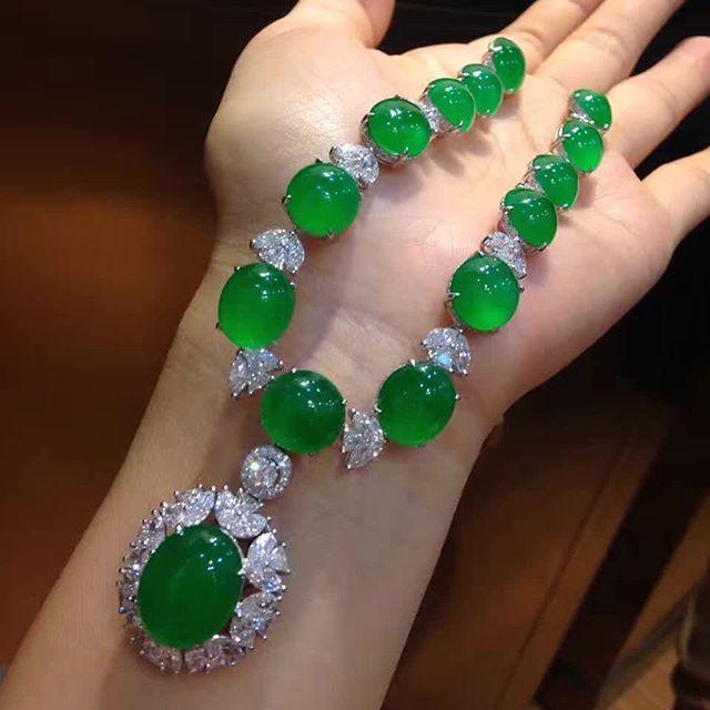 Imperial Green Jadeite Jade Necklace