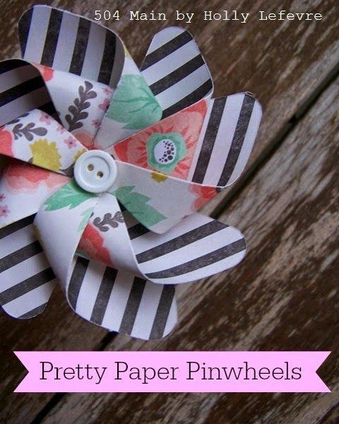 Pretty Paper Pinwheel Centerpieces