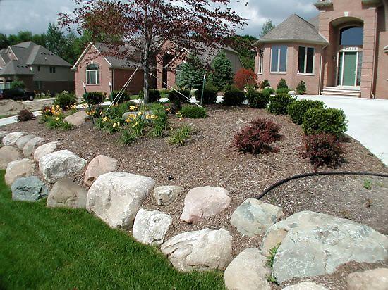 michigan landscaping design photo gallery retaining walls superior boulder retaining walljpg - Rock Wall Garden Designs