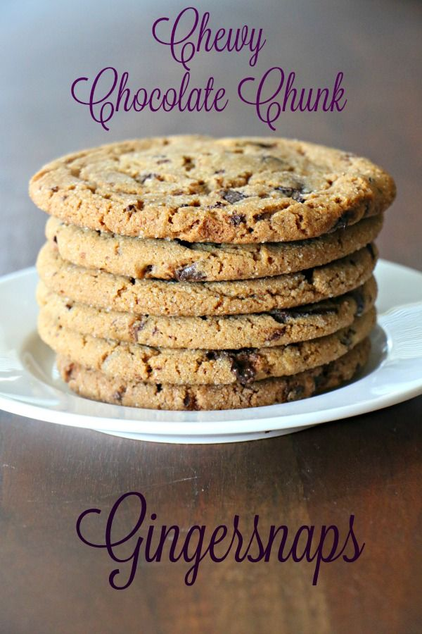 Chewy Chocolate-Chunk Gingersnaps