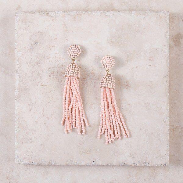 Pink Tassel Earrings...YES Please   #tasselearrings #tassel #tassels #earrings #pink #breastcancerawareness #jewelry #accessories #cute #pretty #bling #lillypulitzer #loft #loftstyle #fashion #fashionblogger #fashionista #style #stylist #stylish #plunderdesign #plunderjewelry #plunderstyle