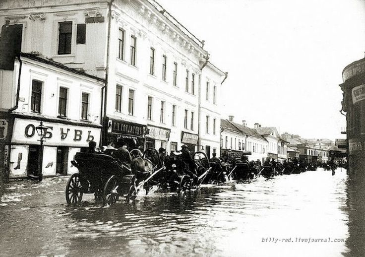 Images of the great flood of 1908 in Moscow -