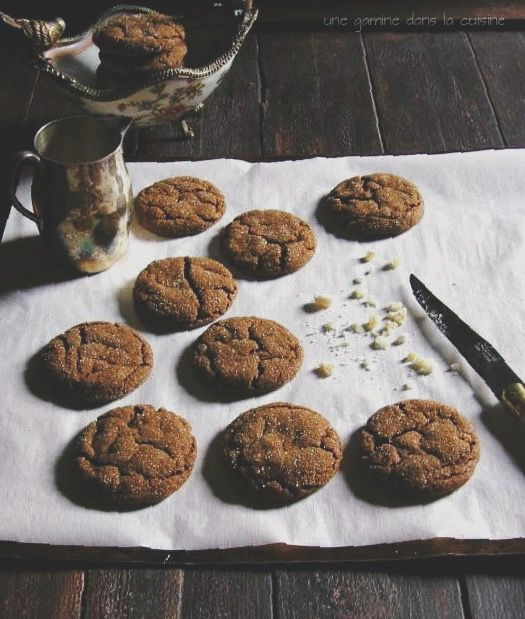 soft triple ginger cookies More