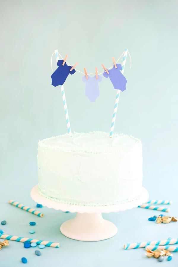 Baby Boy Onesie Cake Topper DIY