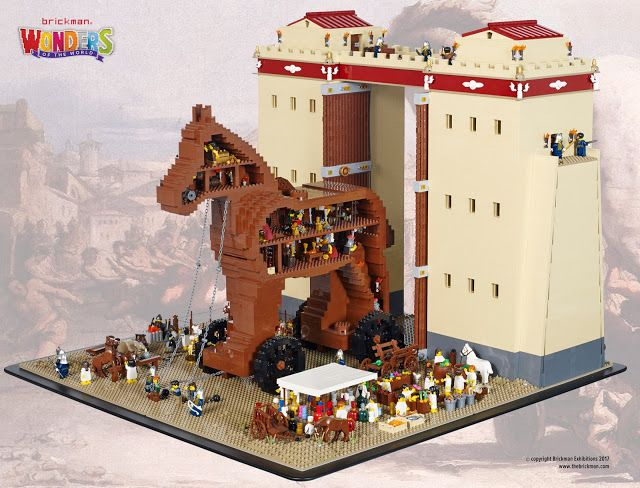 Tiles or Studs: LEGO Trojan Horse by Ryan
