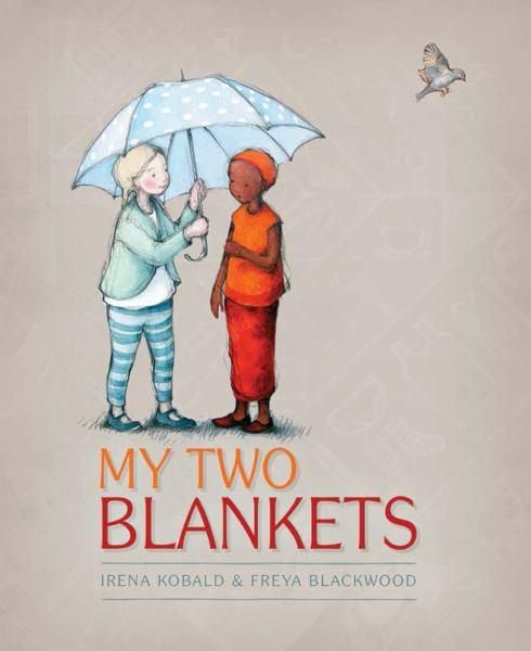 """Winner: CBCA Picture Book of the Year. My Two Blankets offers a child's perspective on life as a refugee.  Cartwheel left her home to escape the war, and has sought safety in a new country.  Everything is strange in her new home, making Cartwheel feel isolated and lonely.  She seeks comfort in her own language – her """"old blanket"""" of familiar words and sounds.  Then Cartwheel meets a friendly girl at the park. As their friendship grows, Cartwheel gains new words..."""
