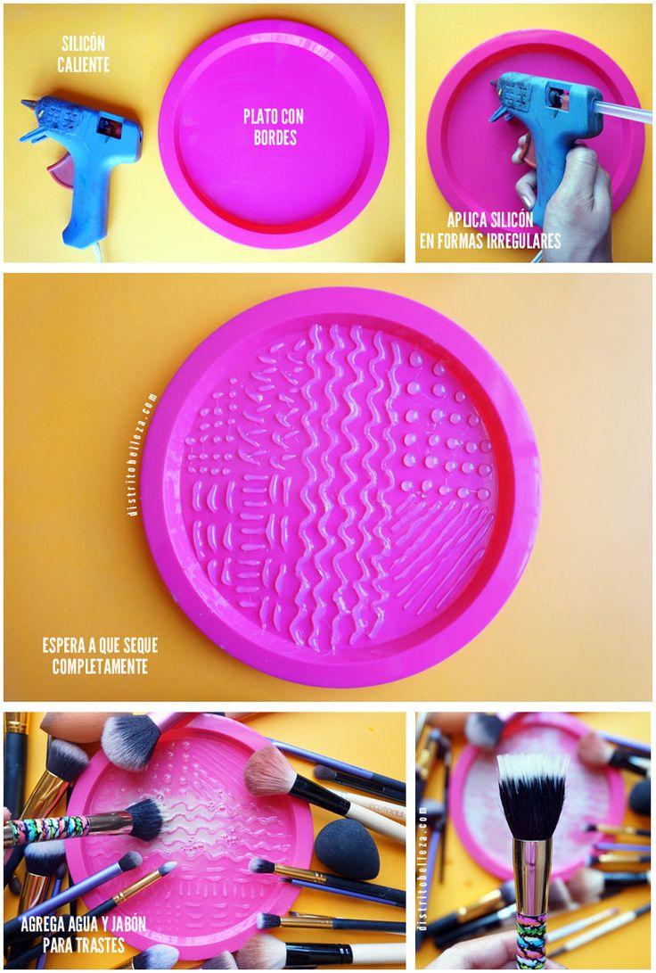 Limpieza de brochas para maquillaje