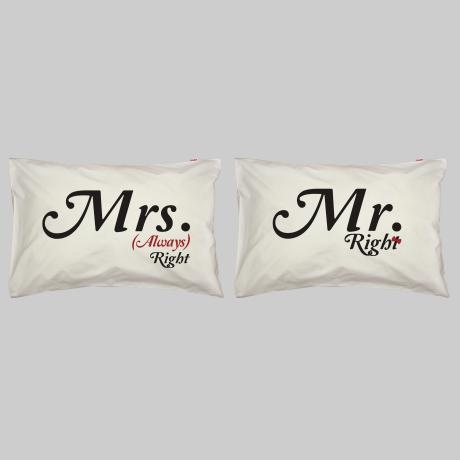 Mr Right… Pillowcase Set – Black & Red from Pillow Talk - R399 (Save 20%)