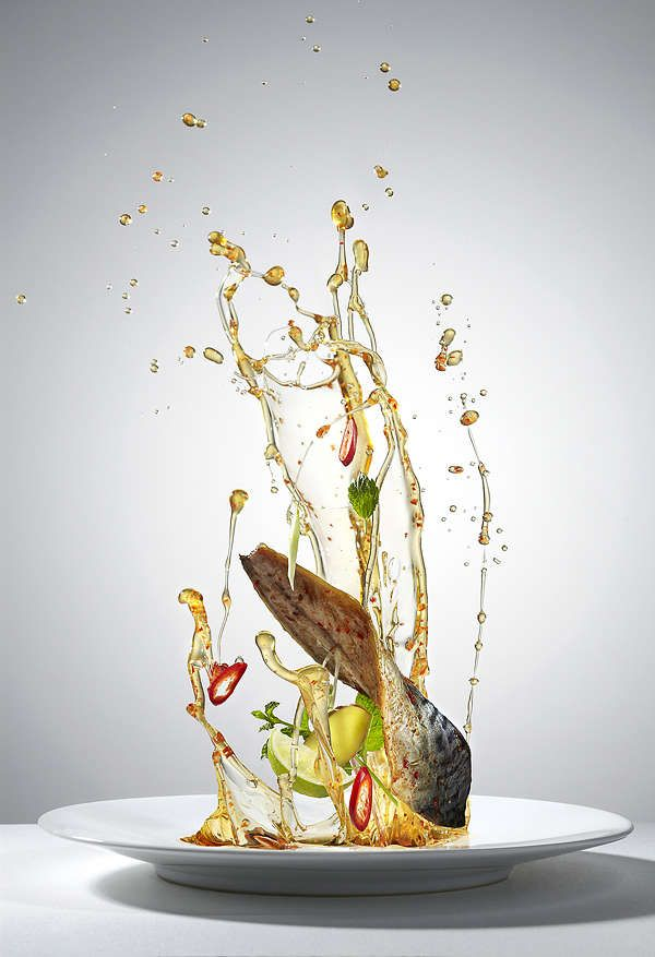 Gravity-Defying Meal Photography - Flying Food by Piotr Gregorczyk Showcases Healthy Ingredients (GALLERY) flying food