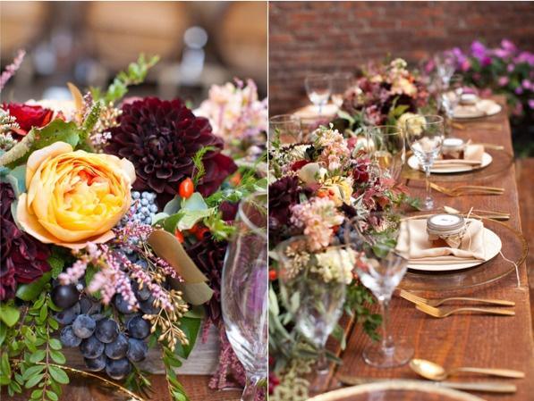 Al parecer uno de los tonos favoritos en la decoración de bodas en la actualidad es el ciruela, un tono rojizo de la gama de los violeta que resulta muy versátil y dramático. Hoy te traemos unas encantadoras imágenes para que encuentres la inspiración que buscas.
