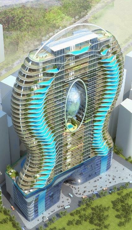 In Dubai, every room has a pool i can't imagine how much it would cost! But i would love to stay in it