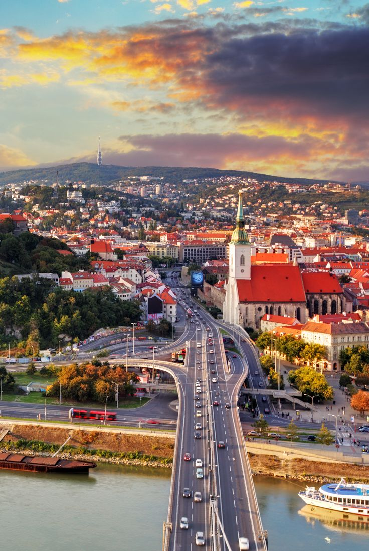 The beautiful view of capital Bratislava, Slovakia. #traveleurope #traveldestinations #vacationideas #placestotravel #placestovisit www.haisitu.ro