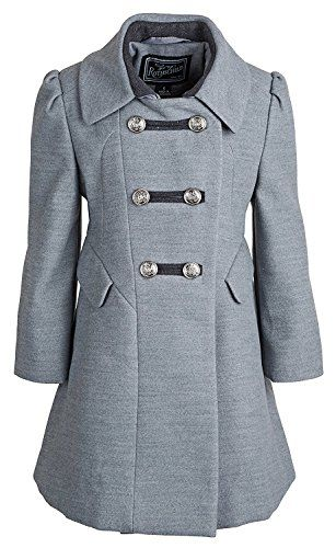 16 best hatchet images on pinterest classroom ideas gary rothschild girls grey dress coat washable wool military style inspired fandeluxe Gallery