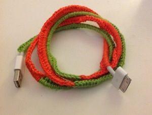 Iphone cable crochet pimp