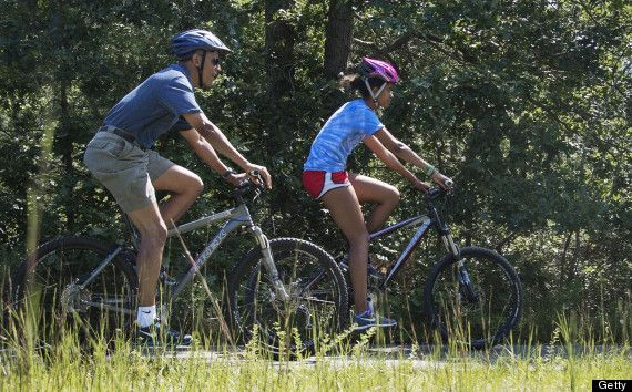 Barack Obama Vacation: President And Family Ride Bikes In Martha's Vineyard