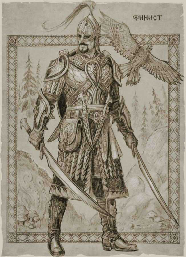 Slavic mythology by Roman Papsuev(tales of old rus) - Finist the falcon, Russian Knight. Russian Fairytales, fantasy