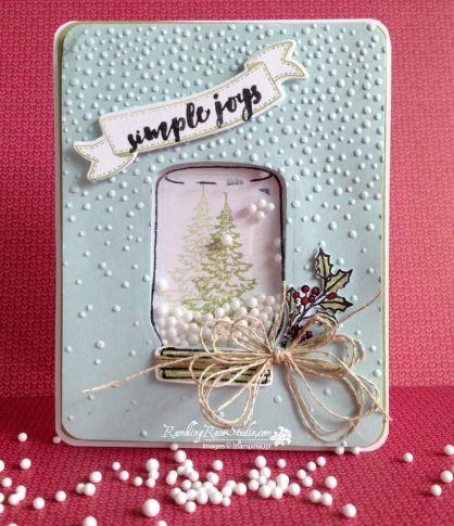 handmade card from  Rambling Rose Studio  by Billie Moan ... mason jar as a…