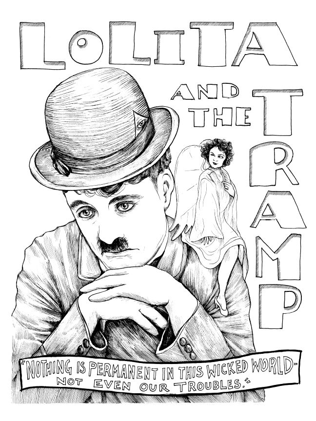 Charlie Chaplin, from Illuminating the Stars Volume 1 by Alicia Justus. Currently funding on Kickstarter: http://kck.st/1wD7LNa