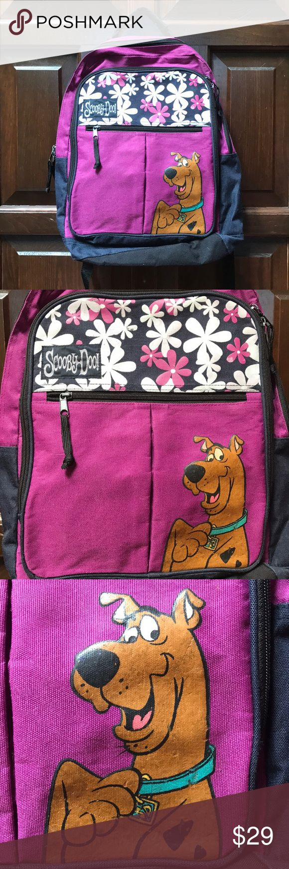 Scooby Doo Backpack Gently used Scooby Doo backpack. No staining. Minor wear on images, see pictures for details. Scooby Doo Accessories Bags