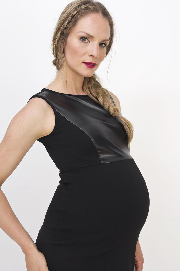 Just because you're pregnant, doesn't mean you can't look good #apsobibi #maternity #leather #stylish #trendy