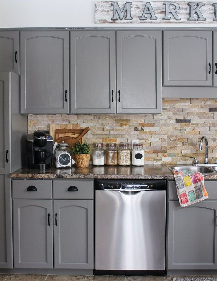 Our kitchen cabinet makeover kitchens kitchen design for Kitchen cabinets 72