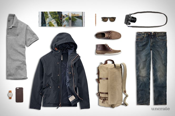 Timberland Nantasket Duffle Bag ($250). Timberland Squam Lake Straight Jeans ($68). Timberland Kibby Mountain Packable Bomber ($138). Timberland Millers River Pique Polo Shirt ($48). Timberland Camp 73 Chukka Shoes ($140). The High LineHardcover Book ($47). Cutler & Gross Sunglasses ($500)....
