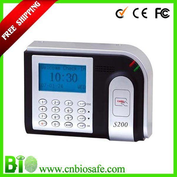 Стандартный ID Карты Punch Card Reader Машина Времени Часы RFID Рабочего Времени TCP/IP HF-S200 Низкая Цена Карты Время Записи