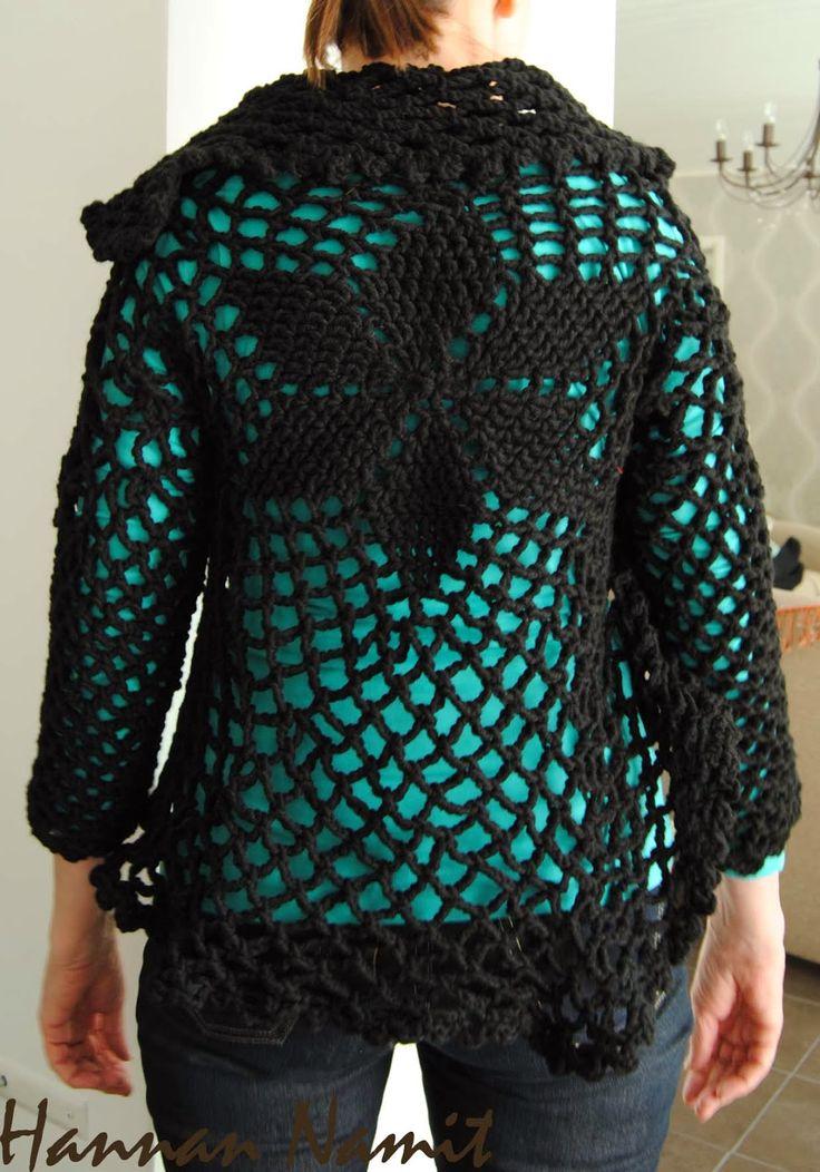 Virkattu takki. Crochet jacket.