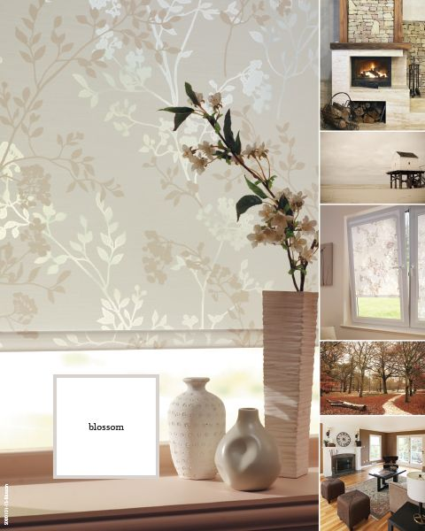 Louvolite Window Blinds Collection 2013 Blossom, beautiful light filtering decorative fabric for rollers or panel glides