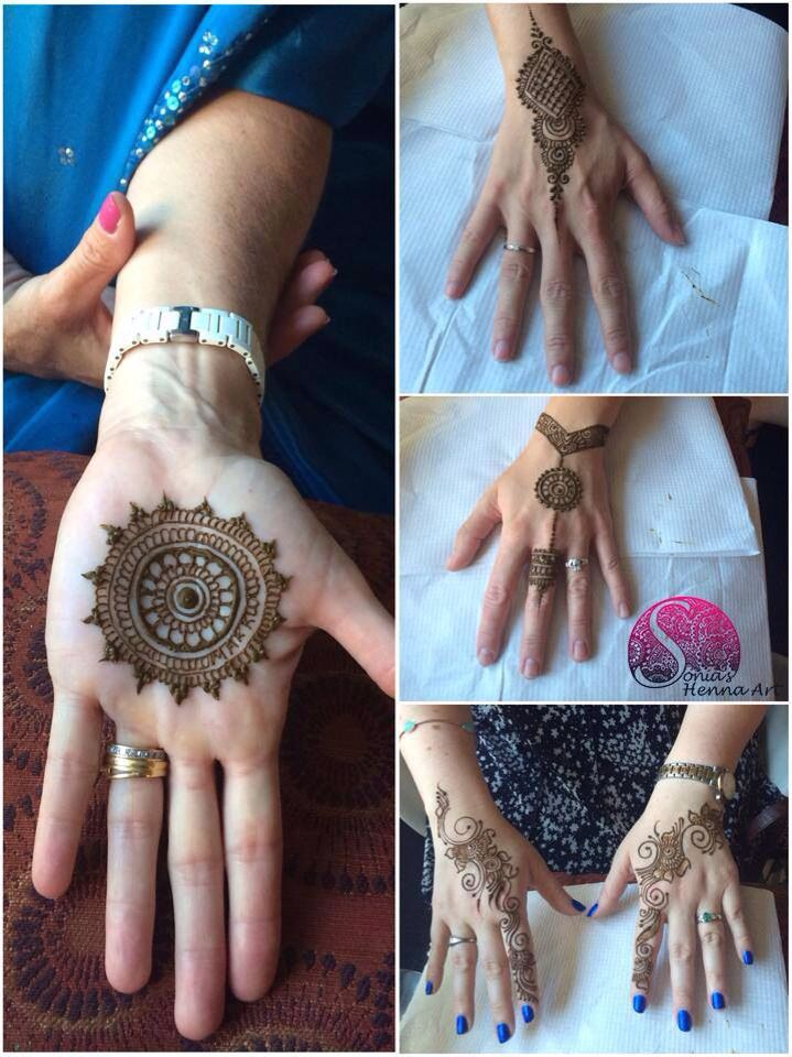 Unique party henna design - mandala, simple bale designs By Sonia's Henna Art Organic henna with a touch of tradition Tradition designs Indian style design Toronto artist Traveling artists for destination wedding Quality Henna Art - Mehndi artist in Toronto / GTA Henna design for punjabi Shadi Sangeet Mehndi