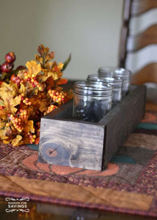 Fall centerpiece ideas create a thanksgiving table box
