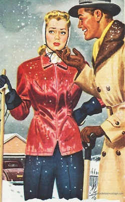 """""""Now darling you look much better with a smile""""- Oh, the joys of shoveling snow!"""