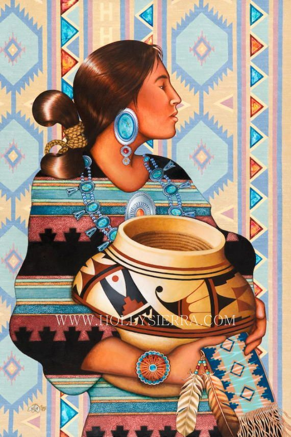 Kai Willow la déesse Navajo de la poterie par HollySierraArt