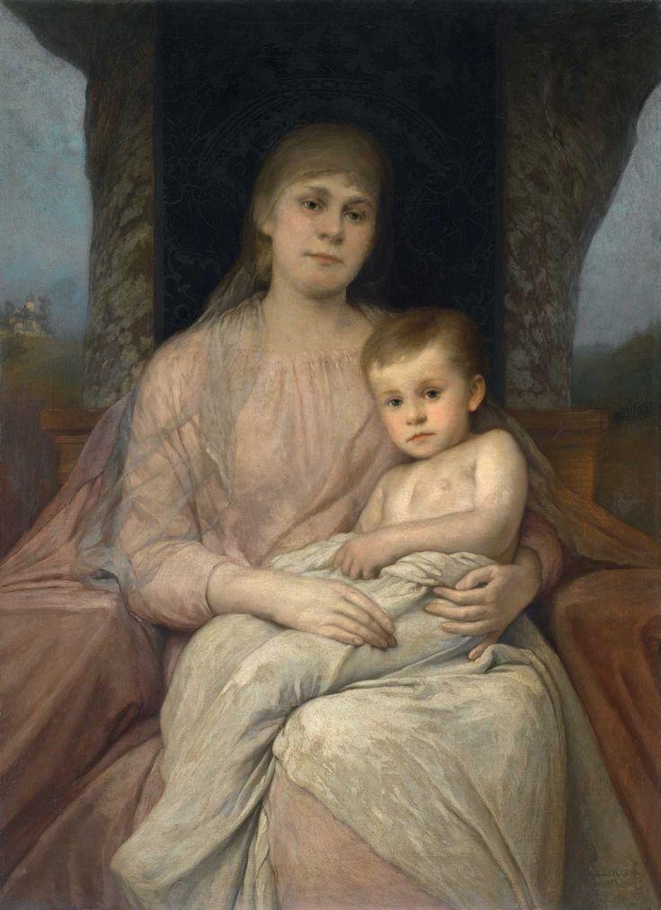 Gabriel Cornelius Max, Madona s dítětem, 1888