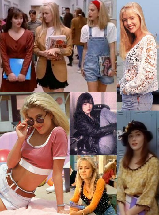 Beverly Hills 90210. I seriously love all the clothes they wear. If only I were born two decades earlier...